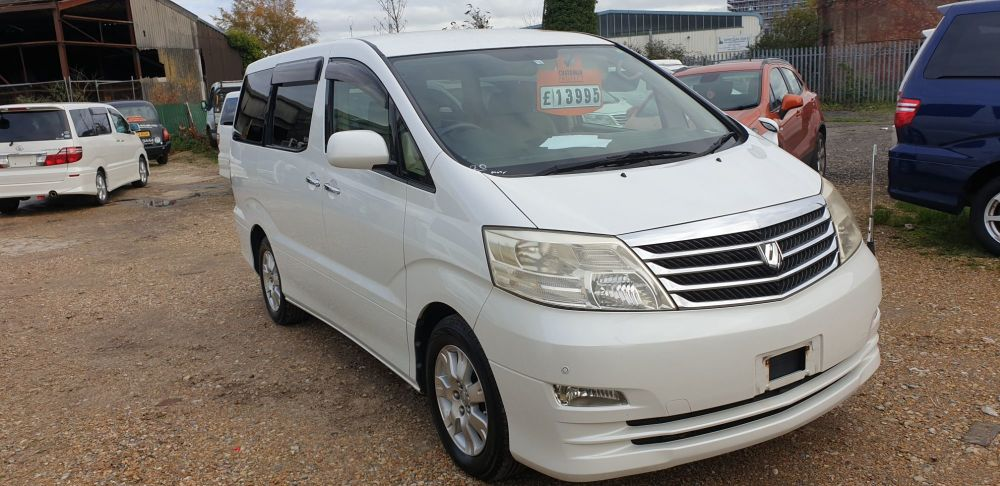 TOYOTA ALPHARD 2 BERTH CAMPERVAN WITH REAR CONVERSION AND ELECTRIC COOL BOX