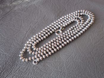 """Sterling silver bead ball chain.  20.5"""" long, 2mm"""