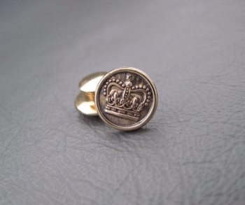 Gilt sterling silver British army crown pin