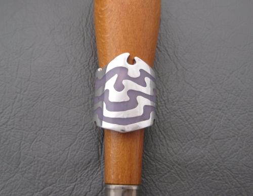 Wow! Sterling silver & purple enamel ring