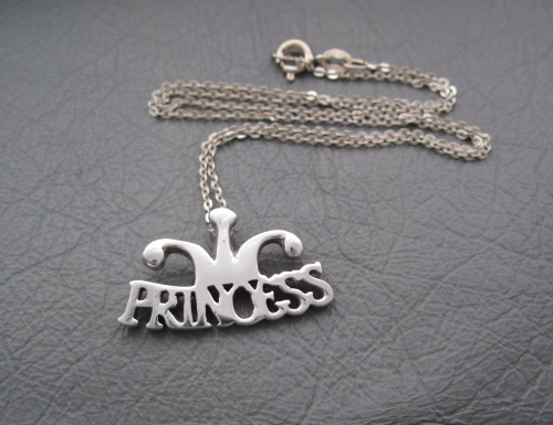 Sterling silver PRINCESS necklace