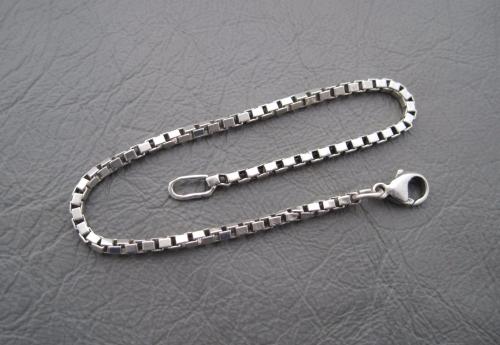 Sterling Silver Box Chain Bracelet 7 25 2mm