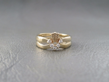Vintage gilt sterling silver pair of rings