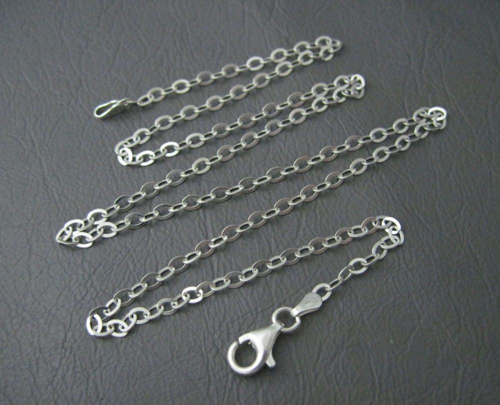 Italian sterling silver flat trace chain (19.75