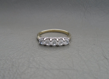 Gilt sterling silver fancy set ring