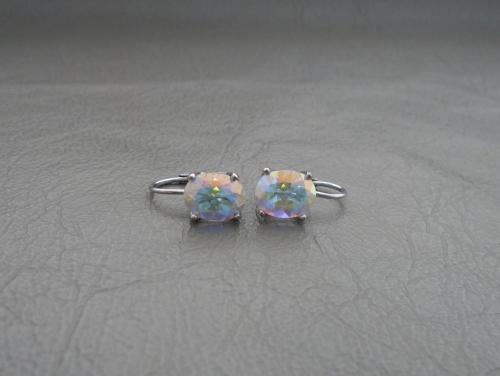 Sterling silver & mystic topaz drop earrings
