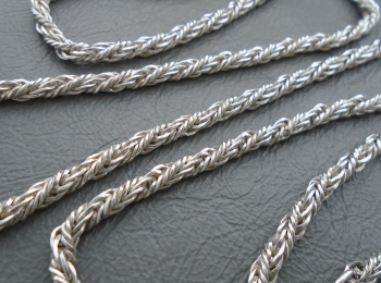 """Spanish sterling silver woven chain (23.5"""", 3mm)"""