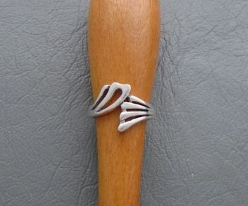 Fancy sterling silver asymmetric ring