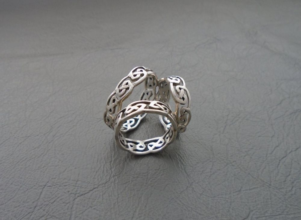 Sterling silver Celtic scarf ring