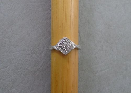 Sterling silver & white topaz cluster ring