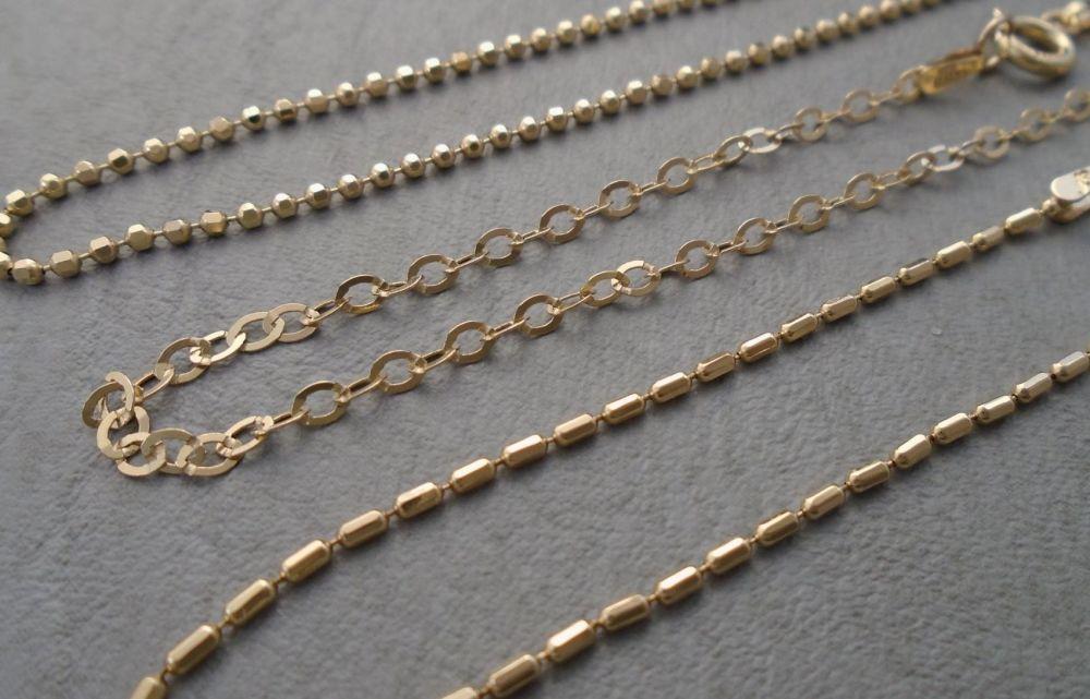 Set of 3 Italian gilt sterling silver chain bracelets