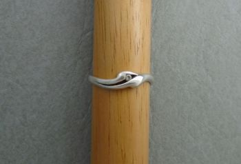 Sterling silver & clear stone set ring