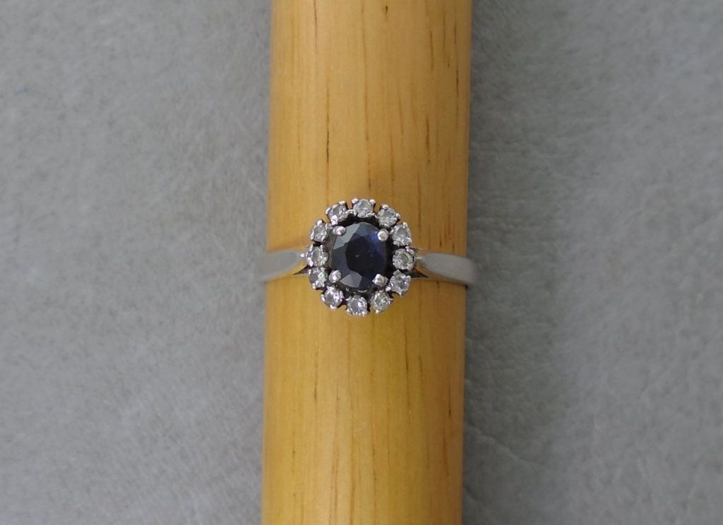 Sterling silver cluster ring