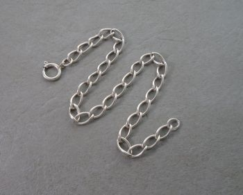 Vintage silver empty charm bracelet