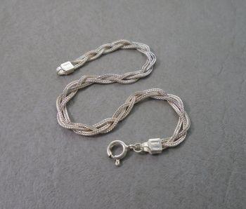 Italian sterling silver chain bracelet