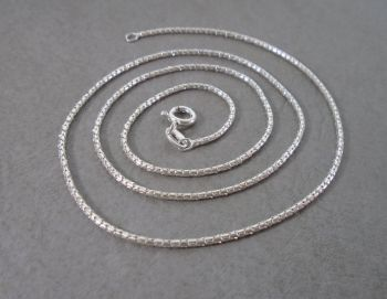 "Italian sterling silver popcorn chain (18"", 1mm)"