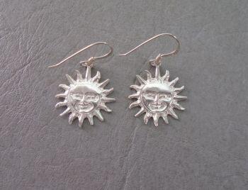 Sterling silver sun earrings