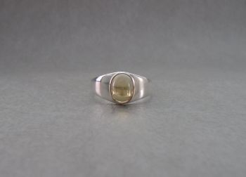 Sterling silver & citrine ring