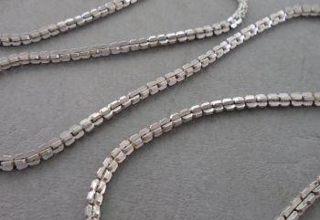 """Unusual vintage sterling silver chain (21.75"""", 3mm)"""