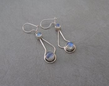 Sterling silver & moonstone earrings