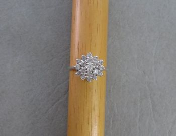 Classic sterling silver cluster ring
