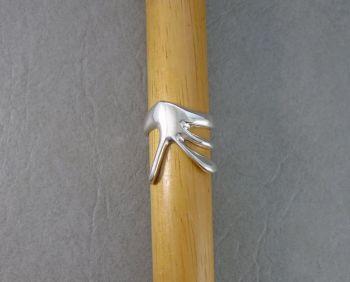 Unusual handmade sterling silver ring