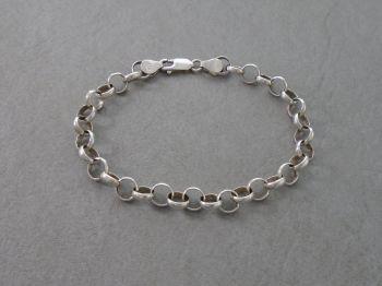 Sterling silver Belcher chain charm bracelet