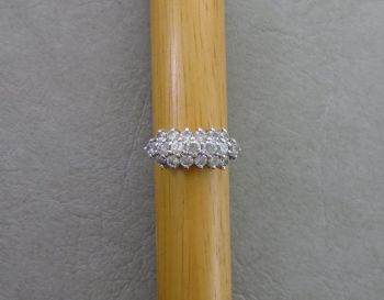 Sterling silver & clear stone ring