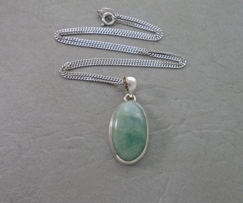 Sterling silver & aventurine necklace