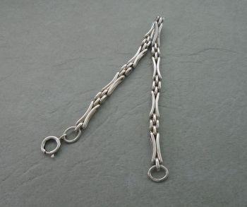 Unusual vintage sterling silver bracelet
