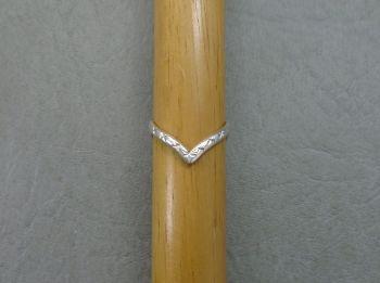 Vintage silver wishbone ring