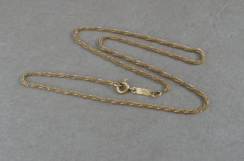 Woven gilt sterling silver chain