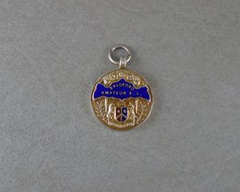 Solid sterling silver medal 'Bradford amateur football league' 1st Div. winner 1947-48