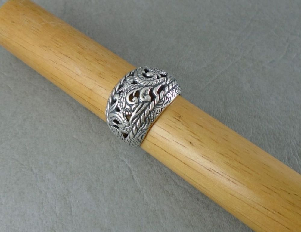 Sterling silver domed south western ring