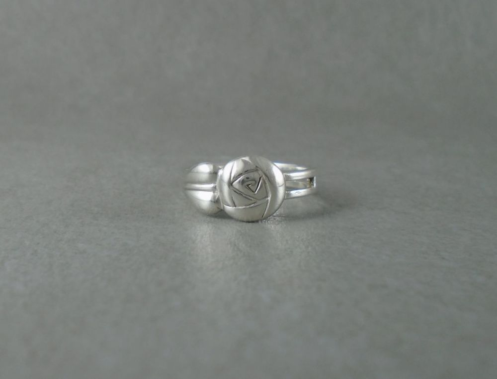 Sterling silver abstract rose ring