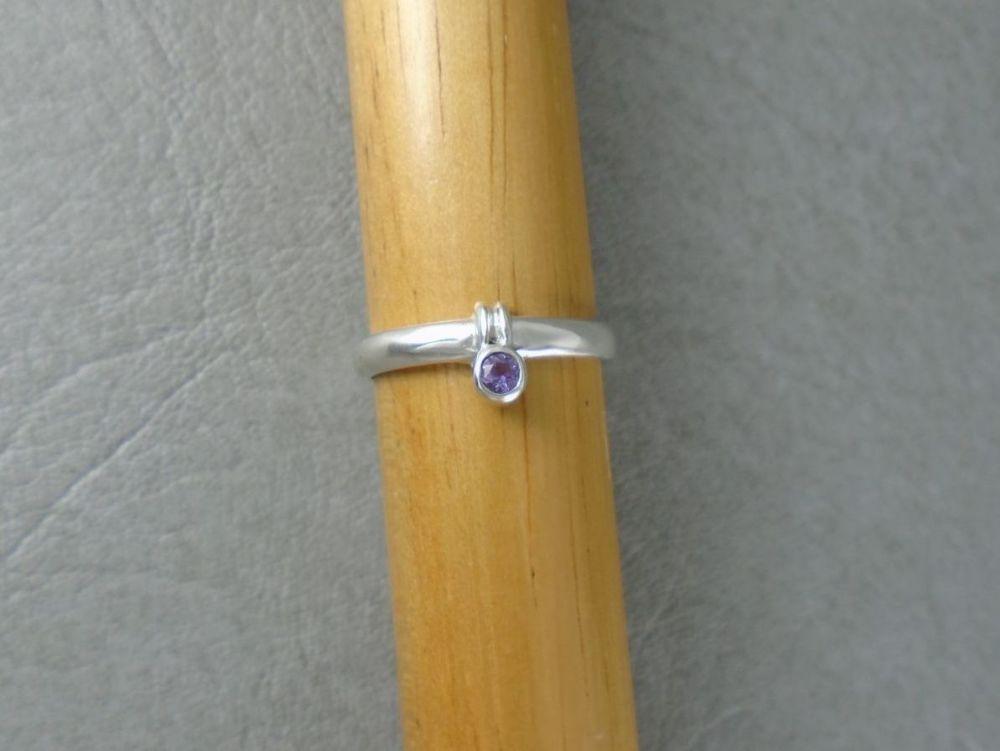 Sterling silver & amethyst ring