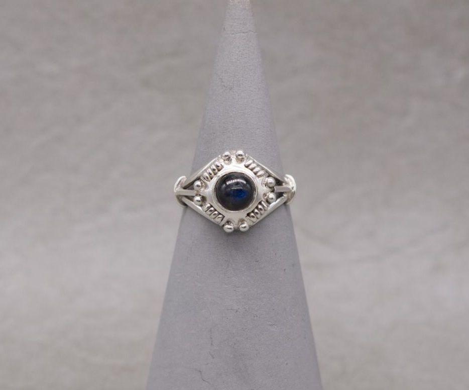 Fancy sterling silver & labradorite ring