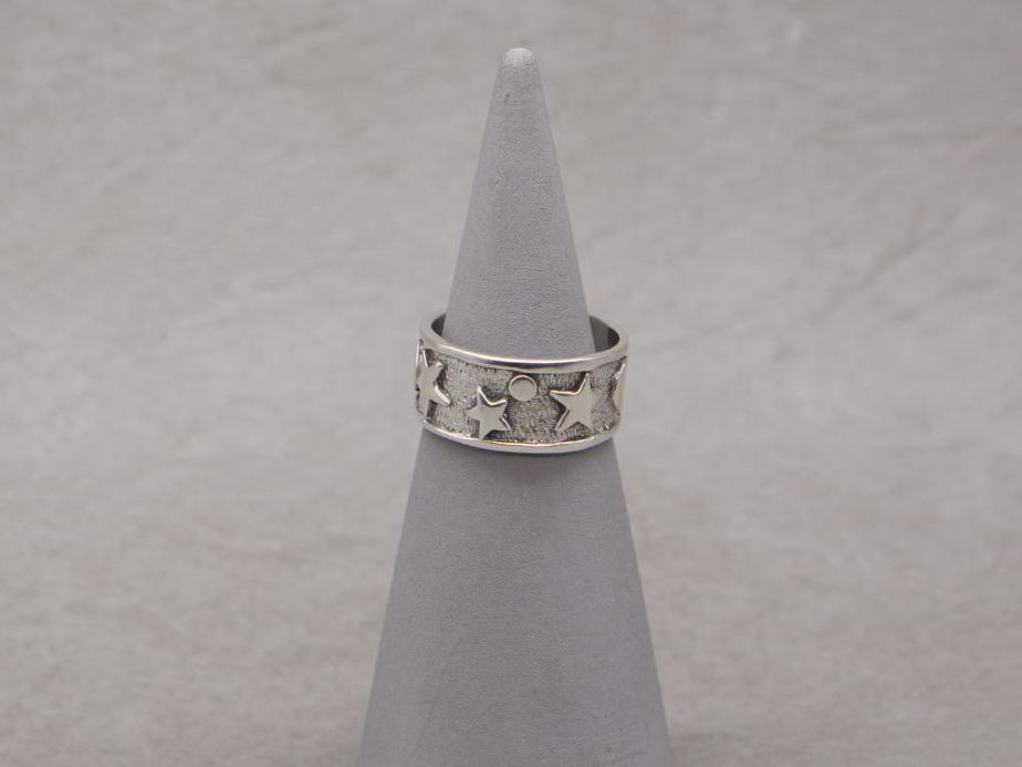 Sterling silver stars & moons ring