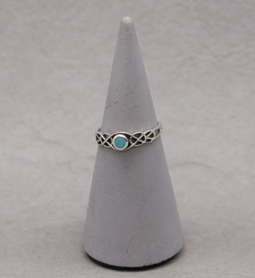 Fancy sterling silver & howlite ring