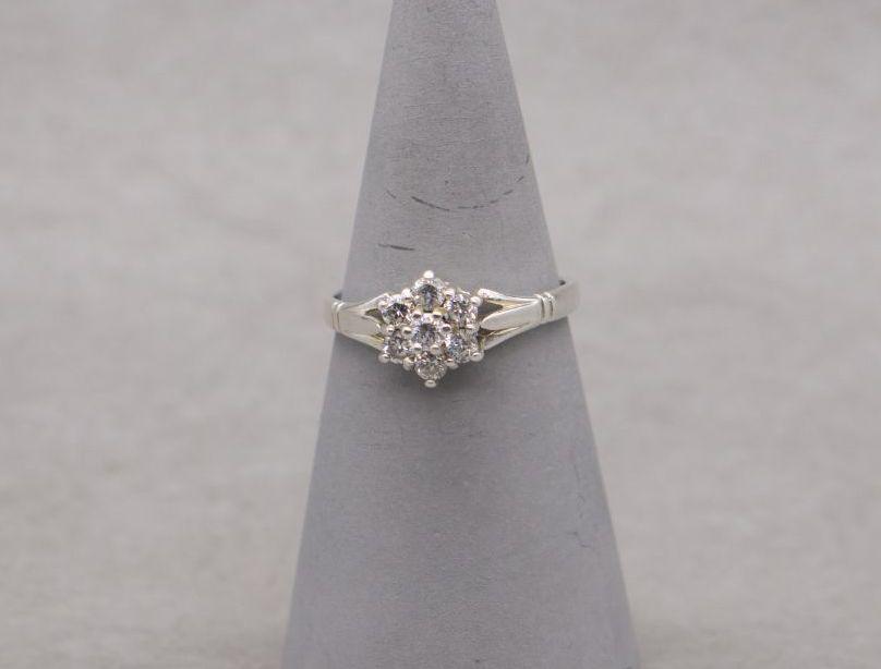 Vintage sterling silver cluster ring