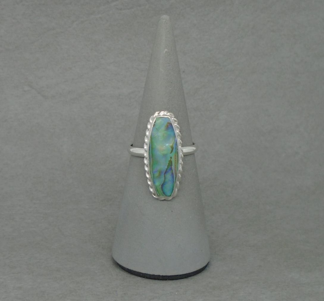 Sterling silver & abalone ring