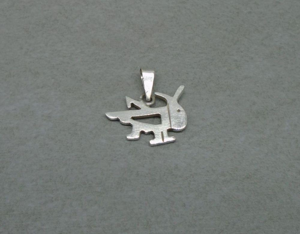 Sterling silver grasshopper pendant