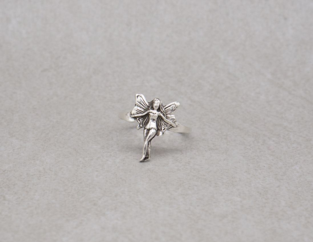 Sterling silver fairy / nymph ring