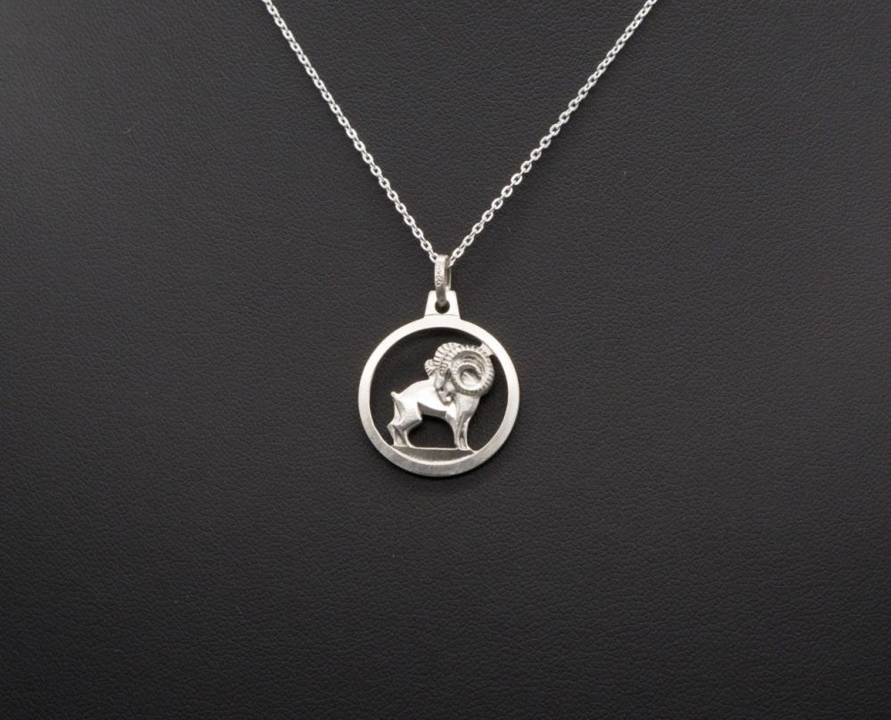 Sterling silver Aries / Ram / Zodiac starsign necklace
