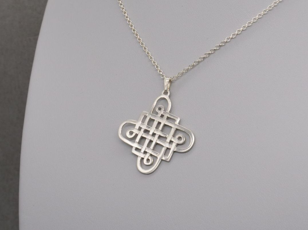 Vintage sterling silver celtic knot necklace