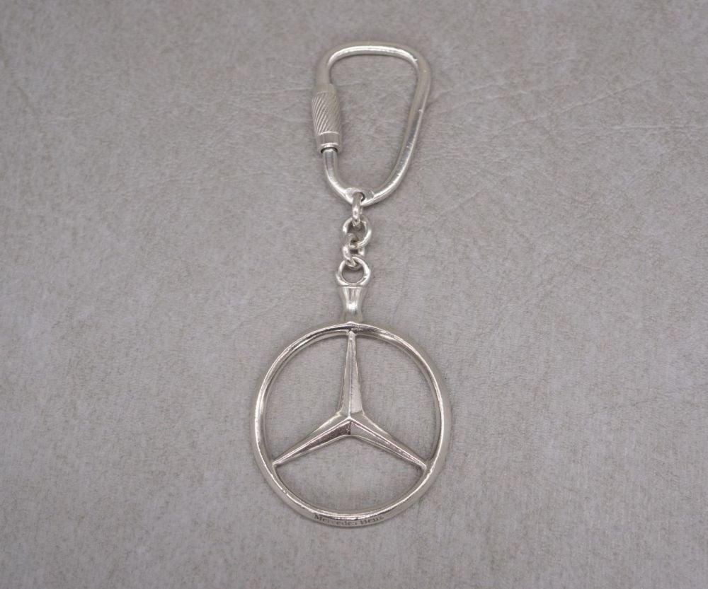 Sterling silver Mercedes Benz keyring