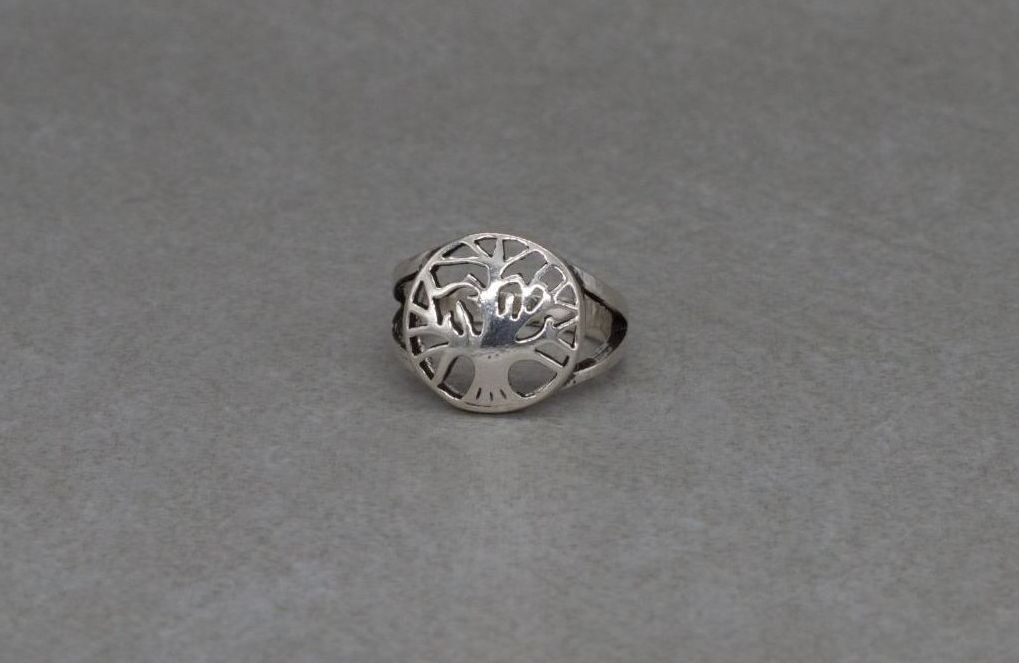 Sterling silver tree of life ring (K)