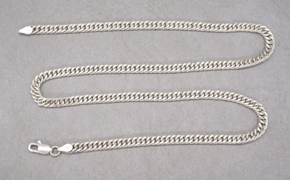 "Sterling silver curb chain necklace (19.75"", 4.5mm)"
