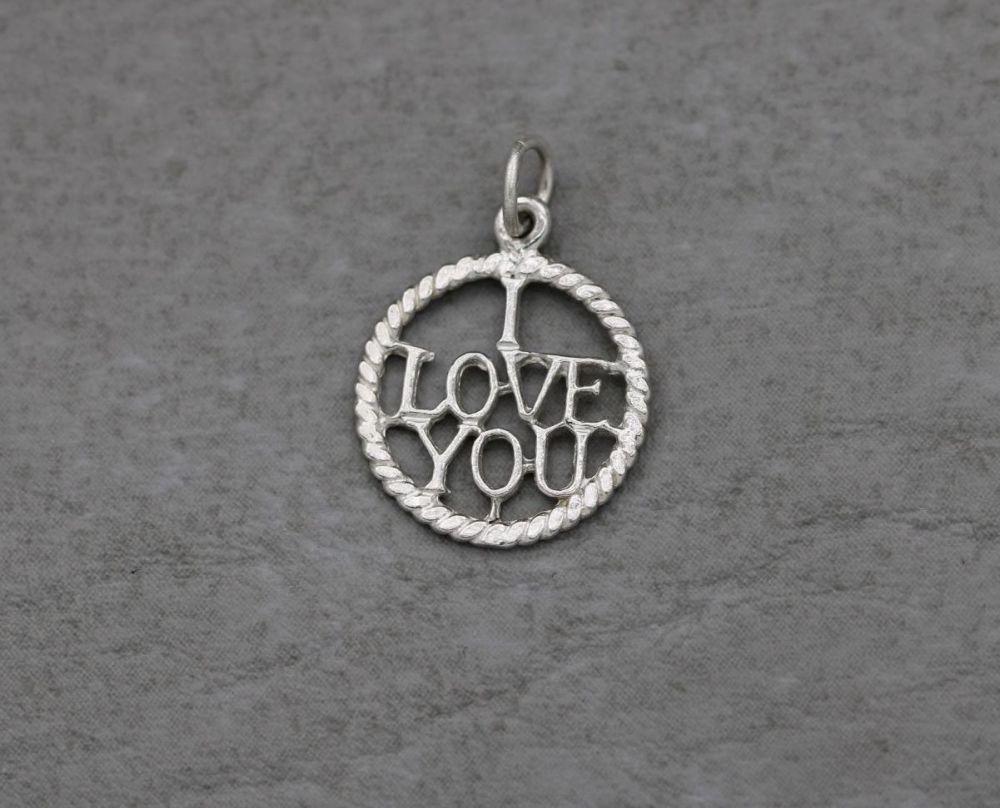 Vintage silver 'I LOVE YOU' charm