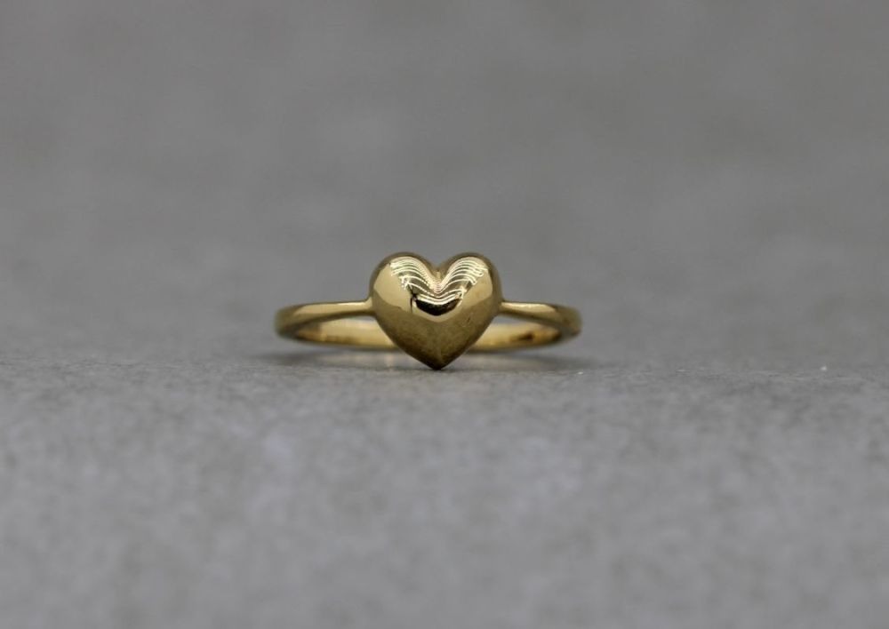 Gold plated sterling silver sweetheart ring
